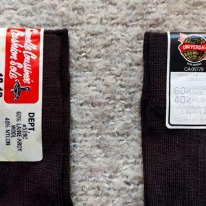 Vintage Mens Brown Socks 3 Pairs NWT